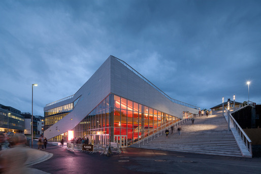 The new 3XN-designed 'Plassen' cultural center in Molde, Norway (Image: 3XN)
