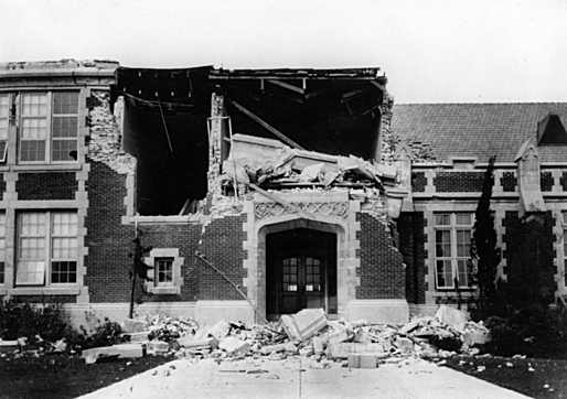 Long Beach, California, Earthquake March 10, 1933, killed 115 people, with hundreds of injured and about $40 million in damages leading to the passage of the Field Act.