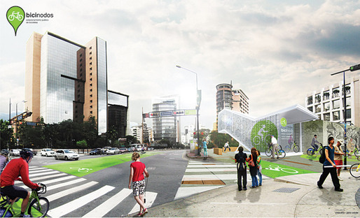 Rendering, parking (Image: Andrea Hernndez &amp; Cruz Criollo)