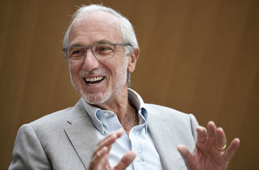 Italian architect Renzo Piano talks to journalists in Paris in 2014. Eric Feferberg/AFP/Getty Images. Image via npr.com.