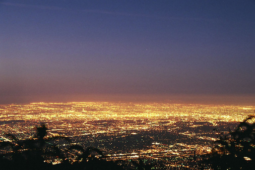 The Los Angeles basin, one of the most iconic examples of urban sprawl. Photo: Geographer/Wikipedia