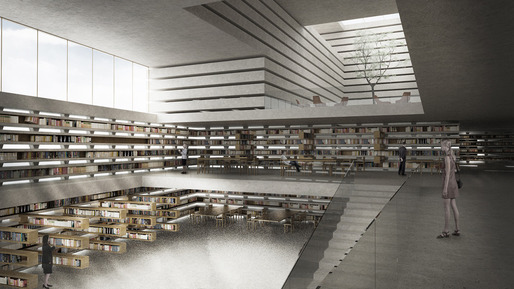 Cristina Parreño Architecture in collaboration with Amin Tadjsoleiman, National Library, Ljubljana, Slovenia, 2012