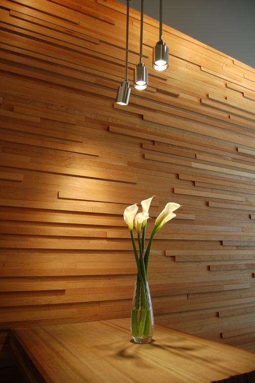Spring street lobby mckean architecture archinect - Empanelados de madera ...