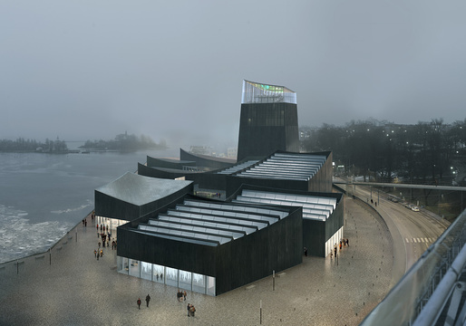 "Rendering of the winning design for the new Guggenheim Helsinki ""Art in the City"" by Moreau Kusunoki Architectes."