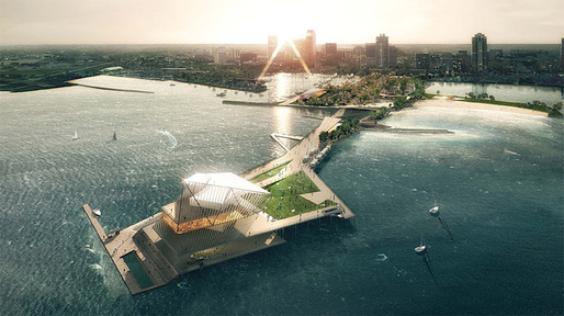 Ranked in 1st place by the Pier Selection Committee: The Pier Park by Rogers Partners Architects+Urban Designers, ASD, Ken Smith. Image via newstpetepier.com, courtesy New St. Pete Pier competition.