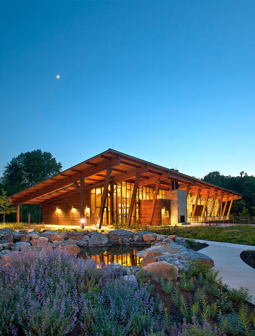Institutional Wood Design: James and Anne Robinson Nature Center in Columbia, MD. Architect: GWWO, Inc./Architects. Photo © Paul Burk Photography