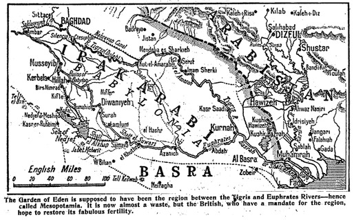 The image accompanying a 1919 article showed British proposals to irrigate Iraq. Credit: NY Times