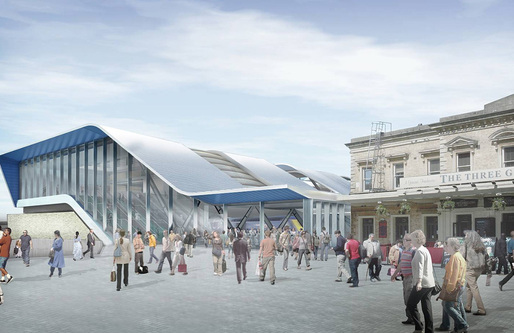 Rendering of the proposed new Reading Station (Image: Grimshaw Architects)