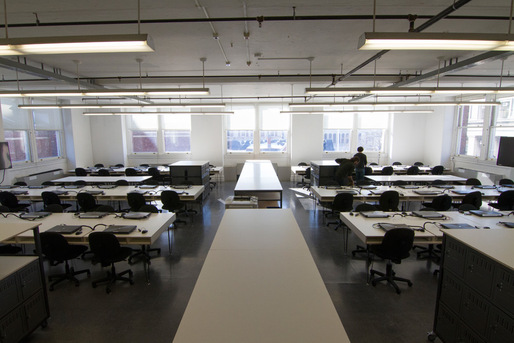 Studio in Avery Hall. Image courtesy of GSAPP.