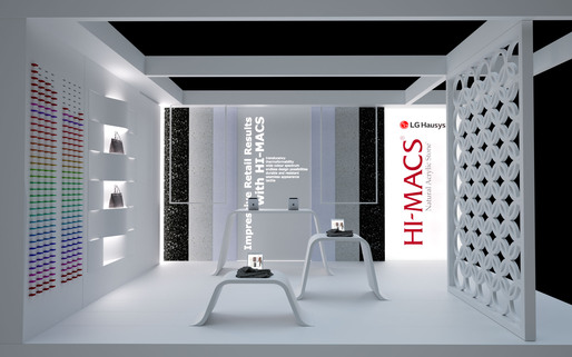 For The First Time LG Hausys Will Be Showcasing HI MACSR At Retail Design Expo 9 10 March 2016 Visit Stand Q9 Designed By Archistudio
