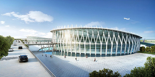 Artist impression of proposed Wonsan International Airport terminal. Image: PLT Planning & Architecture Limited