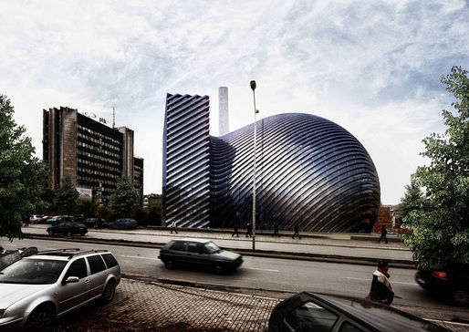 Street view of the Prishtina Central Mosque entry by Paolo Venturella Architecture (Image: Paolo Venturella Architecture)