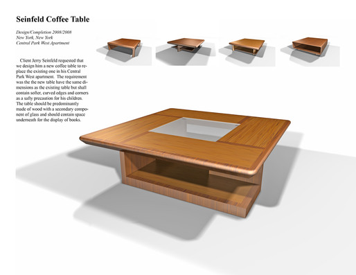 Seifeld Coffee Table Aaron Emma Archinect