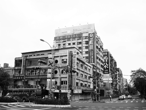 Taipei Sales Center, existing building. Image courtesy of Oyler Wu Collaborative