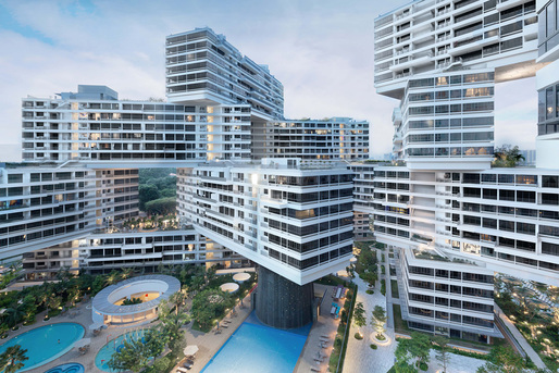 World Architecture Festival 2015 shortlist - The Interlace by OMA and Buro Ole Scheeren.