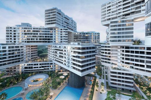 World Architecture Festival 2015 shortlist - The Interlace by OMA and Buro Ole Scheeren.