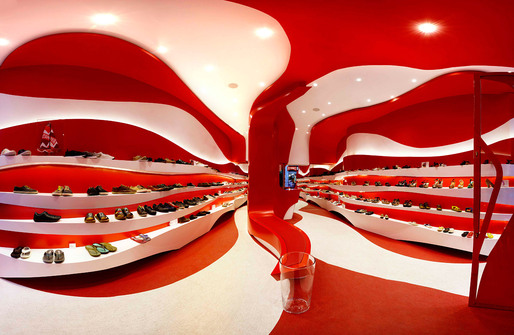 Interior of the new Camper store in Granada, Spain by A-cero (Photo: Juan Snchez)