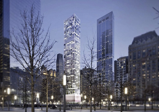 Rendering of 22 Thames Street by Selldorf Architects