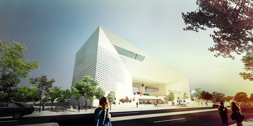 The competition-winning design for the new Maison de l'Économie Créative et de la Culture en Aquitaine, MÉCA in Bordeaux, France by BIG+FREAKS freearchitects, dUCKS scéno, Khephren Ingénierie, VPEAS, ALTO Ingénierie, Vincent Hedont, PBNL, Mryk & Moriceau, Ph.A. (Image: Team BIG)
