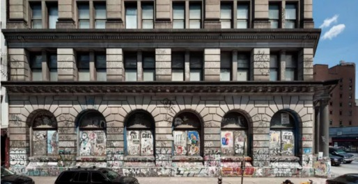 Restoration plans for 190 Bowery will preserve its graffiti. Credit: MdeAS Architects
