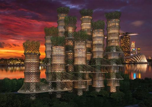 CRG's Bamboo Skyscraper cluster (rendering by EAFIE, Ltd.)