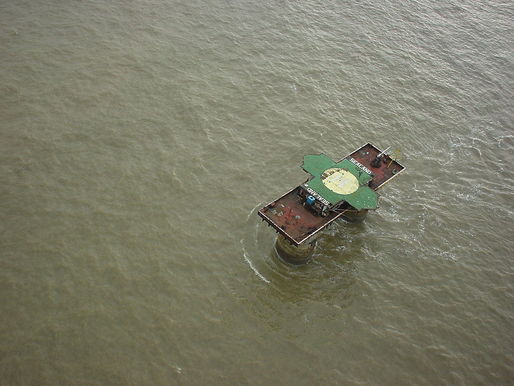 Sealand from above. (Photo: Ryan Lackey; Image via Wikipedia)