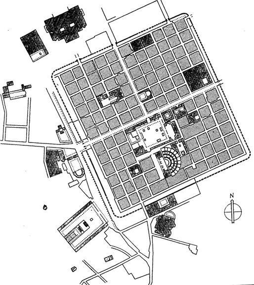 Roman grid in Algeria