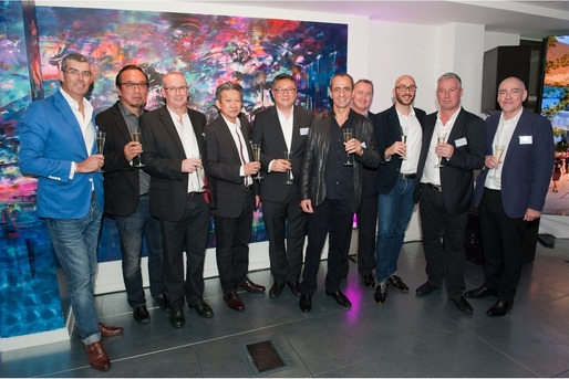 Aedas' senior management gave a toast at the cocktail reception in London