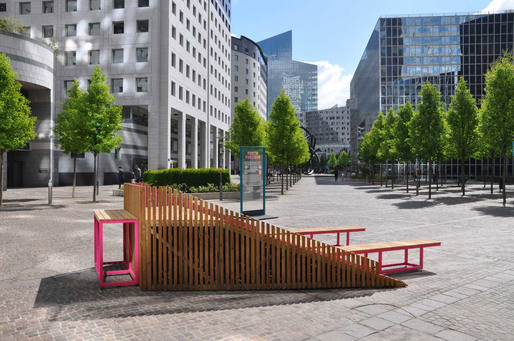 DUNE Street Furniture System at La Dfense, Paris by FERPECT Collective (Photo: Ferpect)