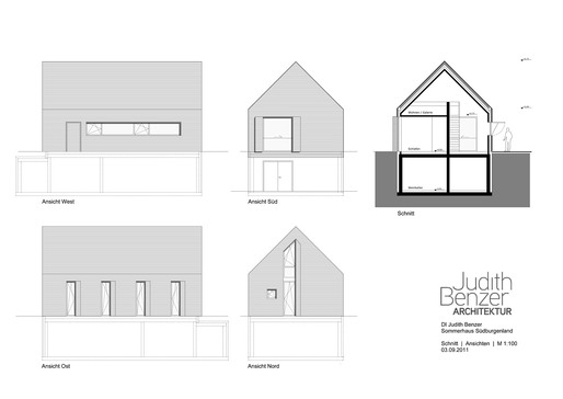 Elevations and section