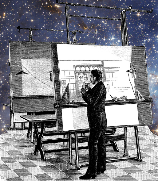 An architect contemplates the stars.