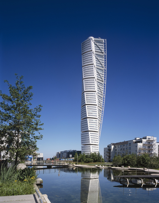Santiago Calatrava's Turning Torso in Malmö, Sweden. Image courtesy of Santiago Calatrava Architects & Engineers.