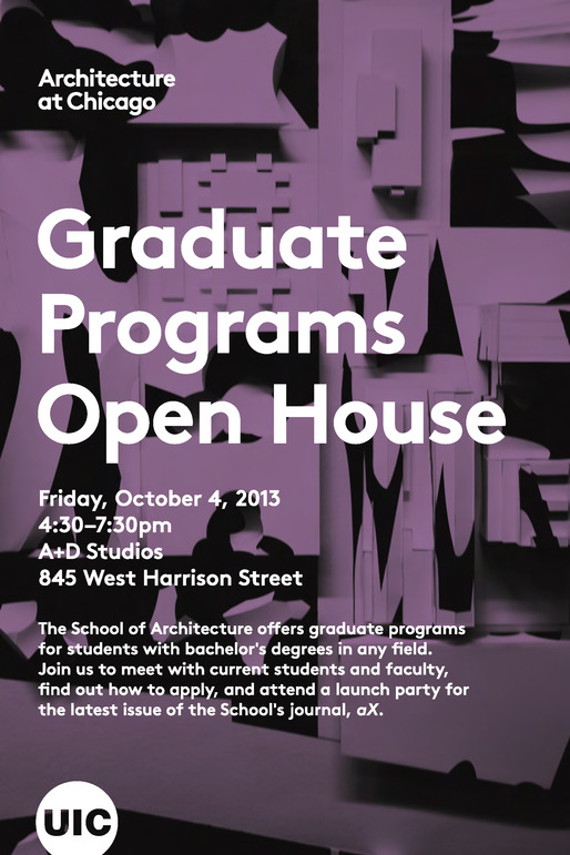 UIC School of Architecture Open House