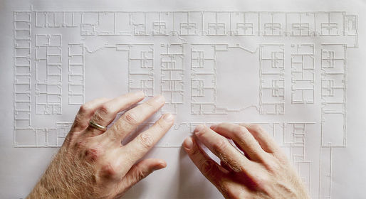 A Tiger Pro embossing printer that allows blind or visually impaired architects to read plans by touch. Photo credit: Don Fogg, via dwell.com