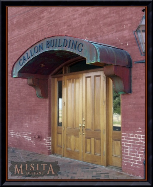 Custom Copper Awnings and Overhangs for Entryways | Joel Misita ...