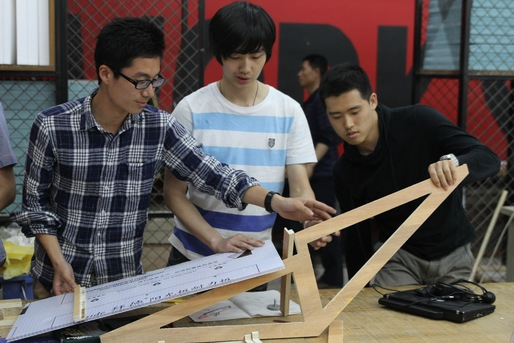 Group 2's roof prototype. Photo credit: Eric Powell.