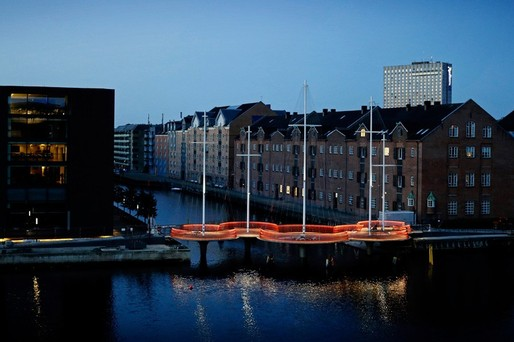 "Olafur Eliasson's Cirkelbroen (""Circle Bridge"") opened last weekend in Copenhagen, two years after initially scheduled. (Photo: Søren Svendsen, for Nordea-fonden)"