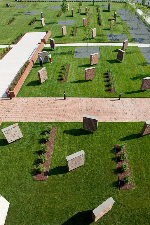 "Triangle Brick Headquarters' ""Brick Garden"" in Durham, NC, designed by PBC+L"