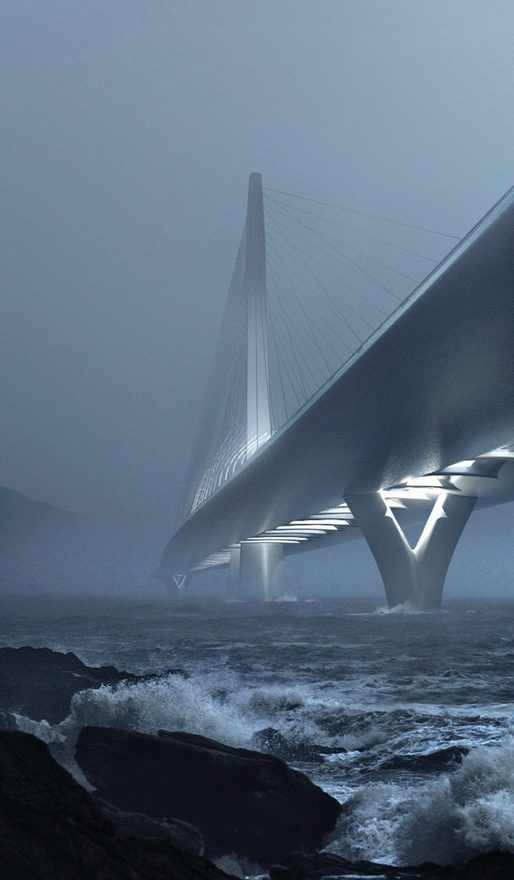 A rendering of the Danjiang Bridge. Credit: ZHA via Facebook