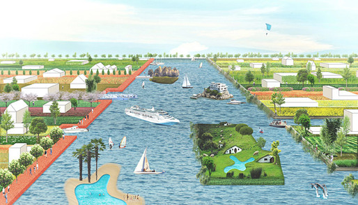 The proposal 'Central Lake' for the EUROPAN 11 Leeuwarden challenge by BudCud (Image: BudCud)