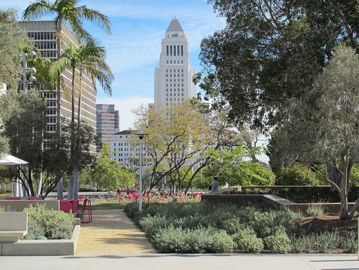 Grand Park is only one recent successful example of 'healthy' public spaces returning to the Los Angeles metro area. (Image via Wikipedia)
