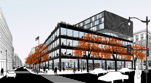 Winning MLK Library proposal by Mecanoo and Martinez + Johnson