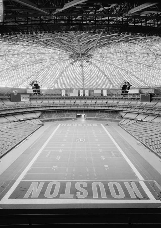 Inside the Astrodome. Via Library of Congress.