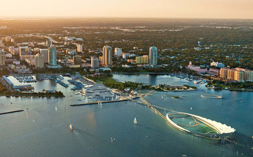 "Rendering of the winning ""The Lens"" design for the new St. Petersburg Pier by Michael Maltzan Architecture and Tom Leader Studio (Image: Michael Maltzan Architecture)"
