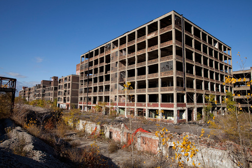 Western part of the abandoned Packard Automotive Plant in Detroit, Michigan. Photo: Albert Duce/Wikipedia