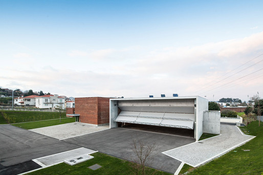 The fire station in Santo Tirso, Portugal opened on January 13, 2013 and is the first fire station designed by Pritzker Prize winner Alvaro Siza Veira. (Photo- Joao Morgado  Architecture Photography)