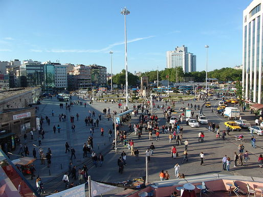 View of Taksim Square view of Wikimedia Commons