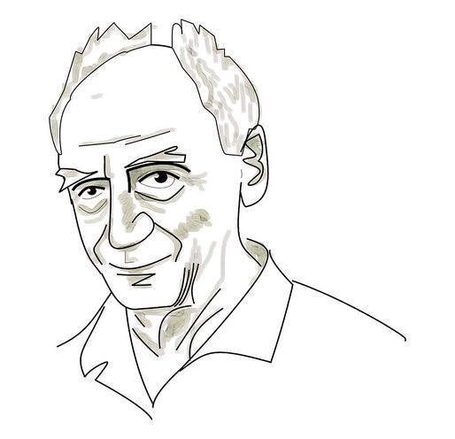caricature of Paolo Soleri, founder and architect of Arcosanti - uploaded by Simtropolitan via Wikipedia