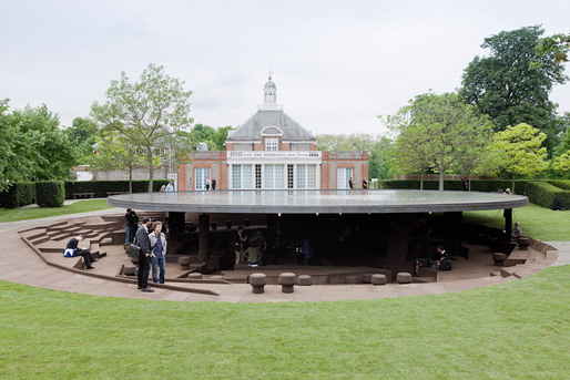 Serpentine Gallery Pavilion 2012 Designed by Herzog &amp; de Meuron and Ai Weiwei  Herzog &amp; de Meuron and Ai Weiwei (Image  2012 Iwan Baan)