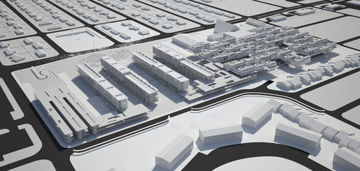 Rendering of Visible Weathers Simultaneous City project for Temple Terrace, Florida. Image courtesy Michael Bell, Eunjeong Seong: Visible Weather.